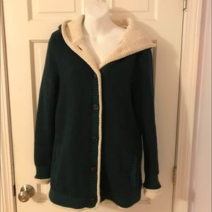 Sherpa trimmed lined Sweater